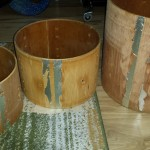 Mahogany drum shells