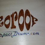 Logo applied to our DIY Snare Drum Refinish