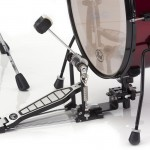 Close-up of the kick pedal and riser rhythm traveler pod