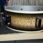 Strainer Installed DIY Snare Drum