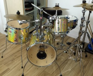 Walopus Champagne Spectra-Sparkle Drum Wrap
