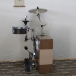 peter Lau's Sideways mini drum kit