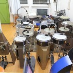 Peter Lau's collection of innovative compact drum kits