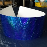 Walopus Spectra-Sparkle Pacific Blue Drum Wrap