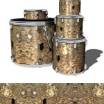 Sic Skinz Eroded Brick Drum Wrap