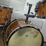 Birds eye maple DIY Mini Bop Drum Kit