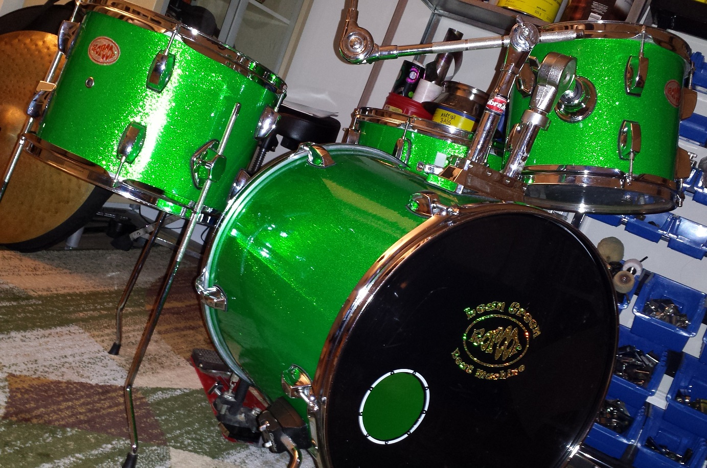 DIY Compact Drum Kit The Lean Green Beat Machine