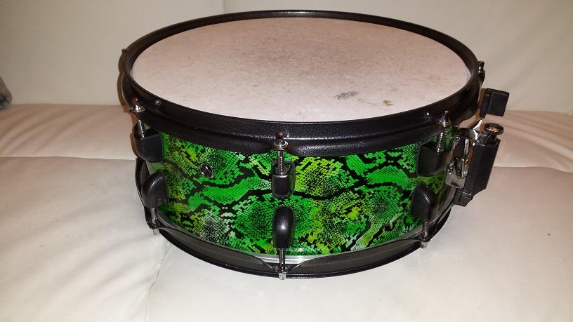 diy mini bop snakeskin drum kit compactdrums. Black Bedroom Furniture Sets. Home Design Ideas