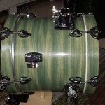 Finished Bass Drum - DIY Cafe Drum Kit